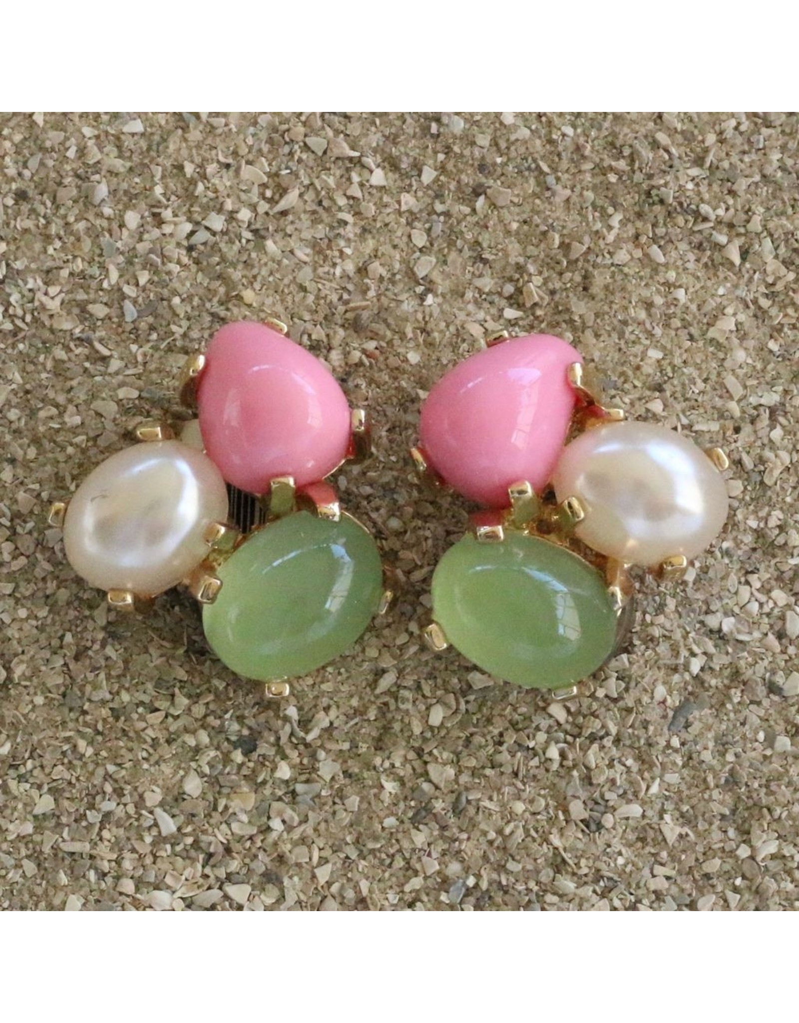 VC Italy VCExclusives: Tri Colored Drops Pink Green Pearl