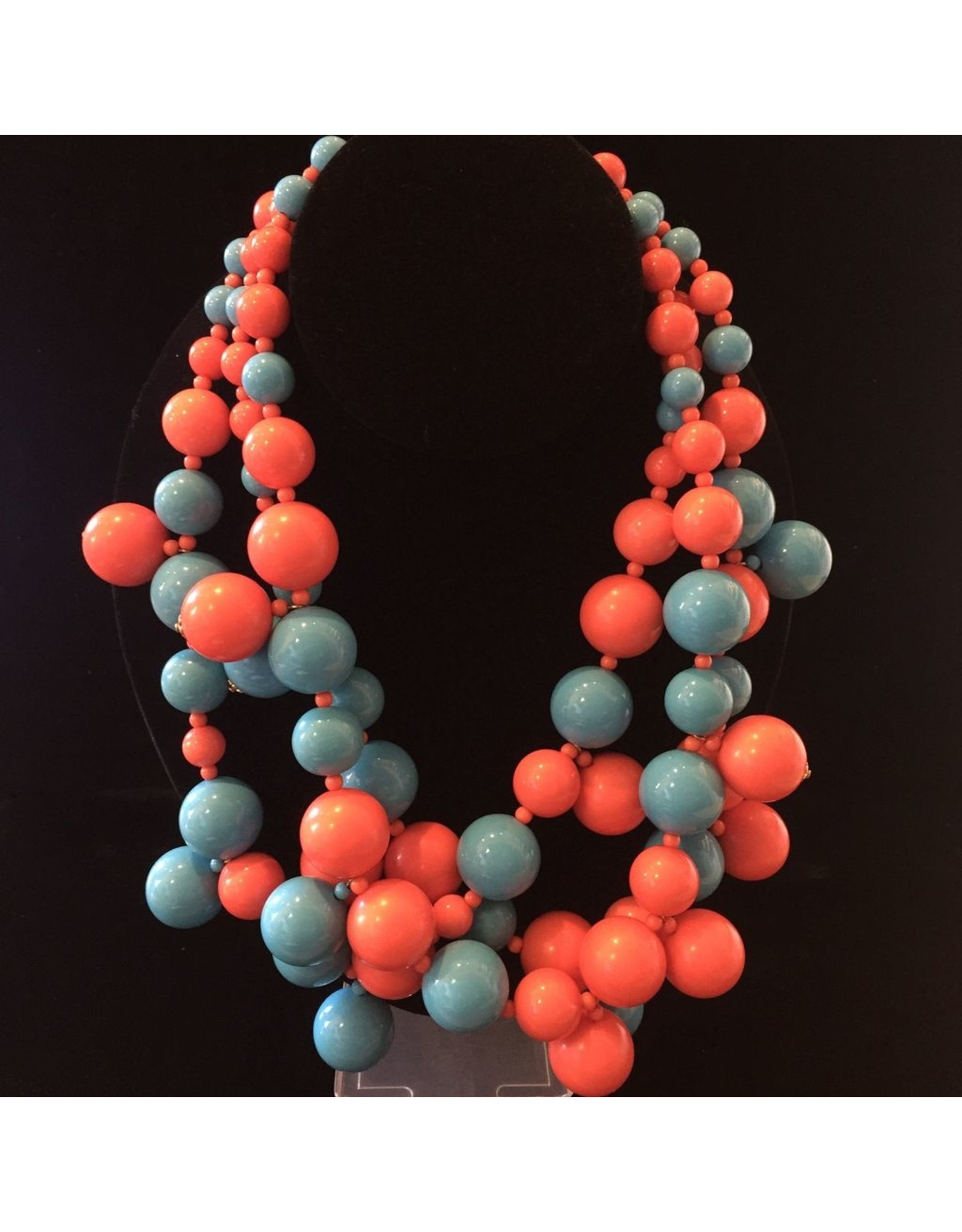 Kenneth Jay Lane KJLane: Clusters Turquoise & Coral
