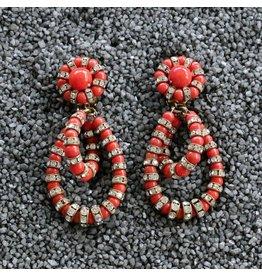 Francoise Montague FMontague: Lolita Coral Loops w/Crystal Details