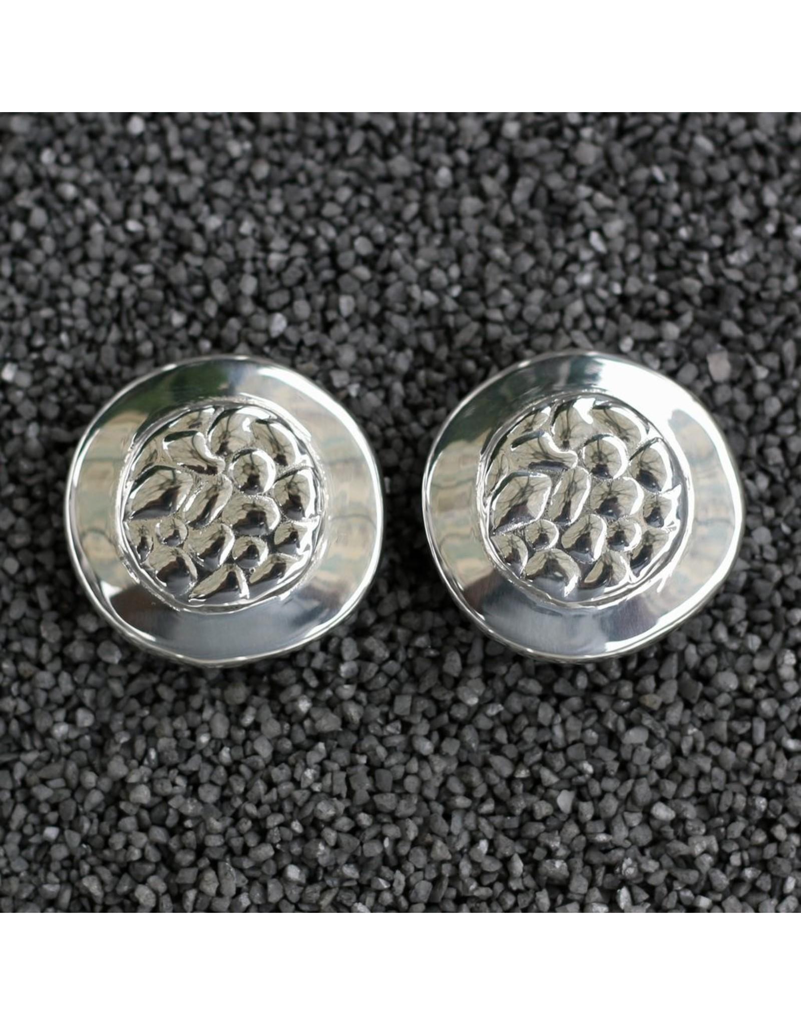 Simon Sebbag Designs Silver Round Button Clip Earring