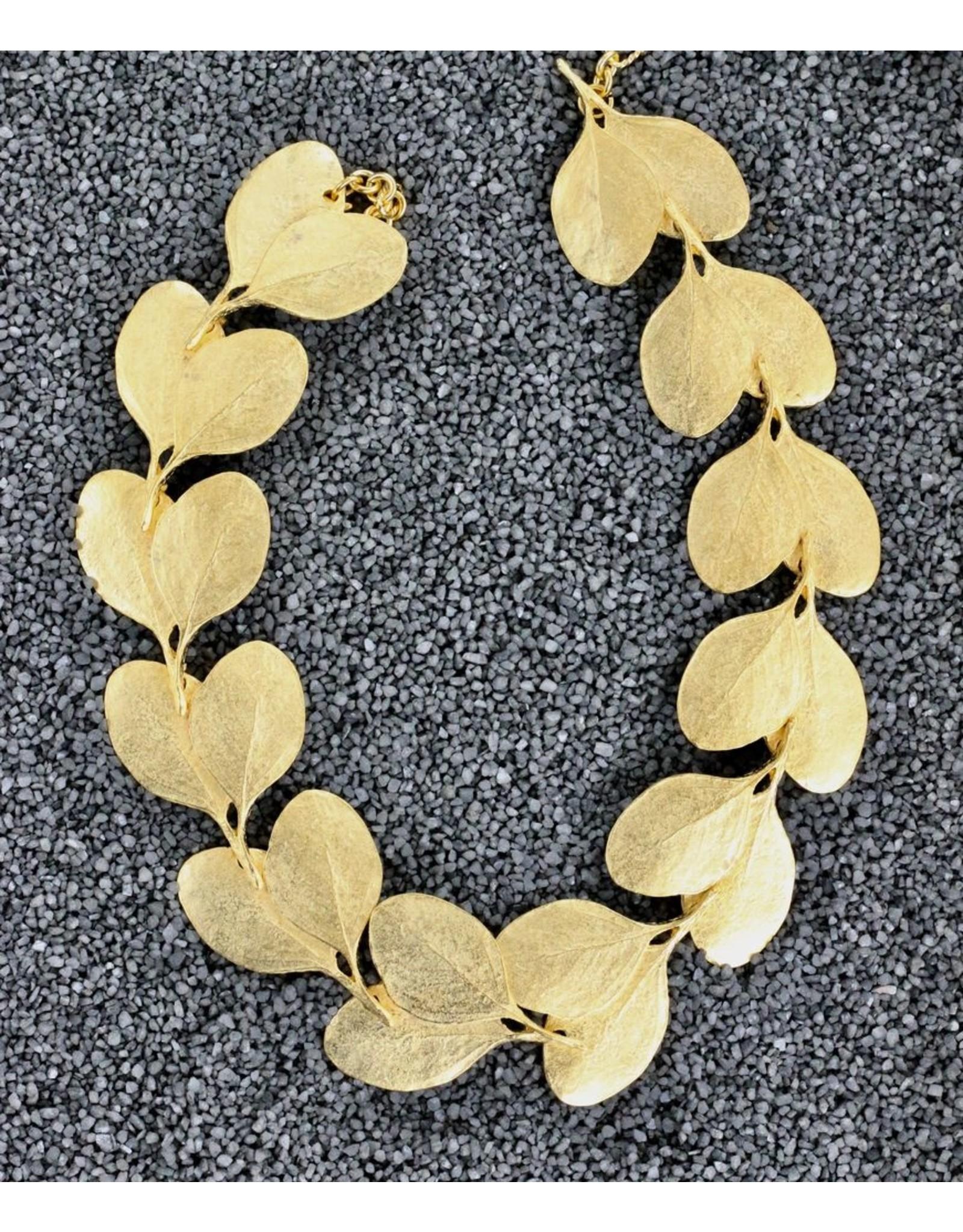 Kenneth Jay Lane KJLane: Gold Leaf Necklace