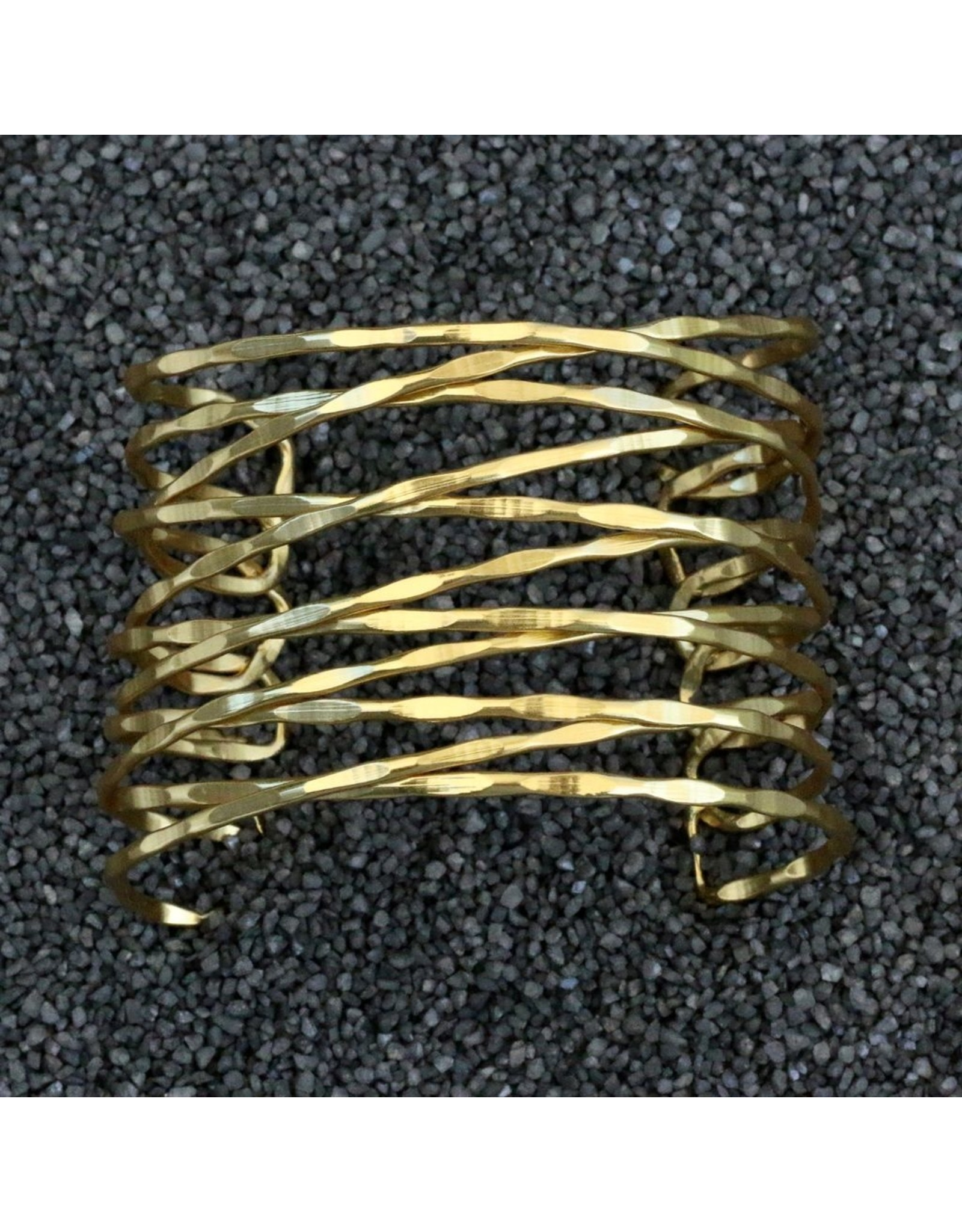 Karin Sultan KSultan: Gold Cuff w/Twisted Bands
