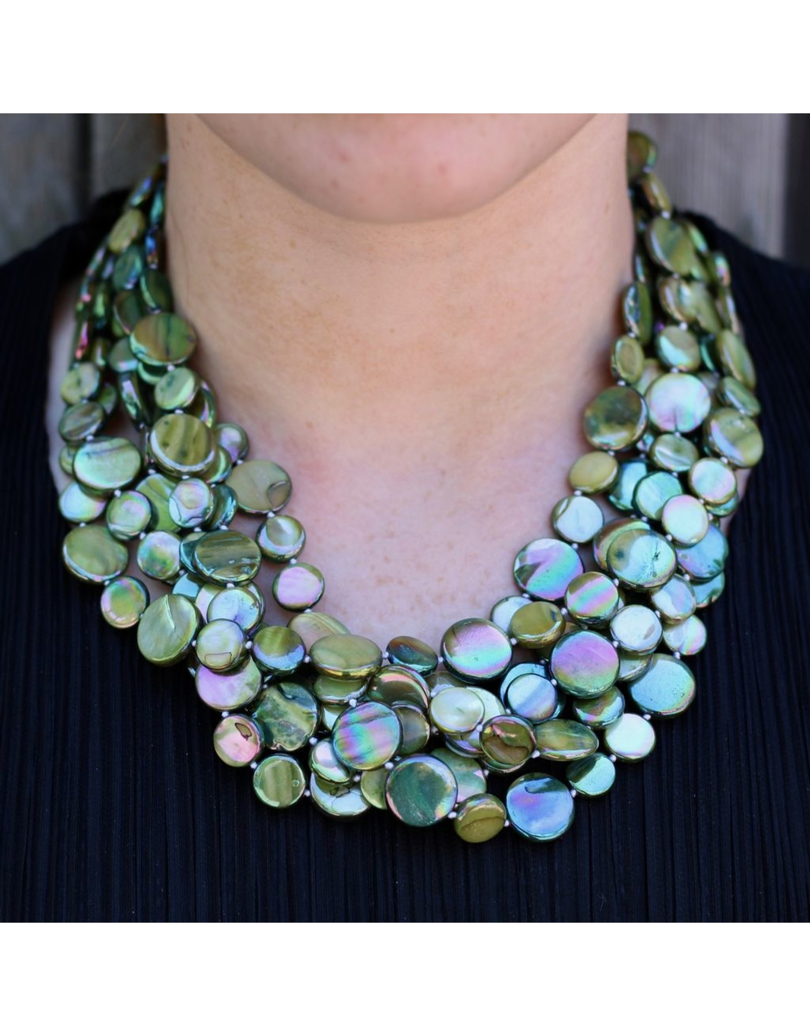 Sea Lily VCExclusives: Chimes Glass Beads Green Magenta