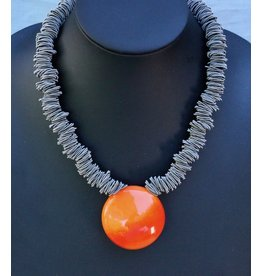 Nikaia Inc. VCExclusives: Maratea Orange with Silver Wire