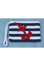 Tiana Designs VCExlusives: Beaded Clutch / Navy Anchor