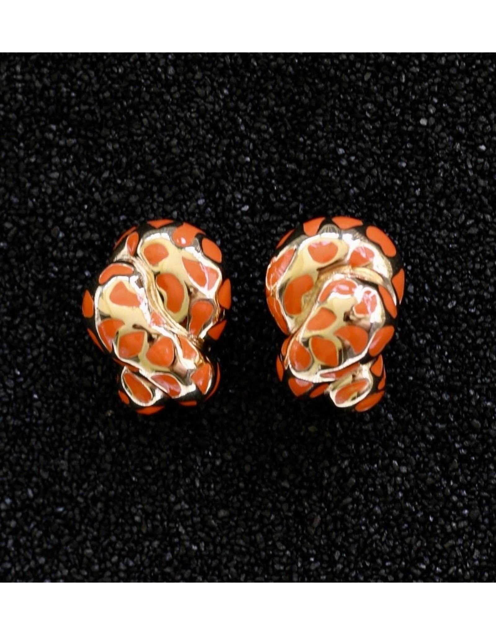 VC Italy VCExclusives: Leopard Coils Coral & Gold