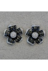 Jardin Jardin: Clear & Charcoal Crystal Flower Med