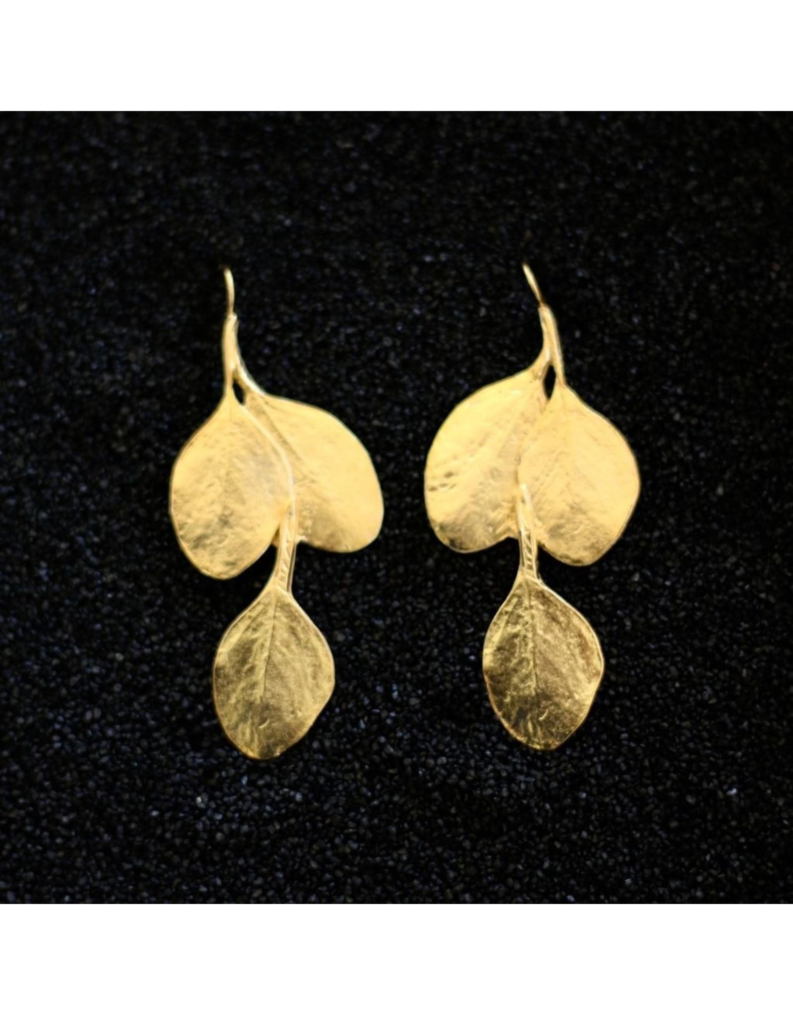 Kenneth Jay Lane KJLane: Gold Leaf Double prcd
