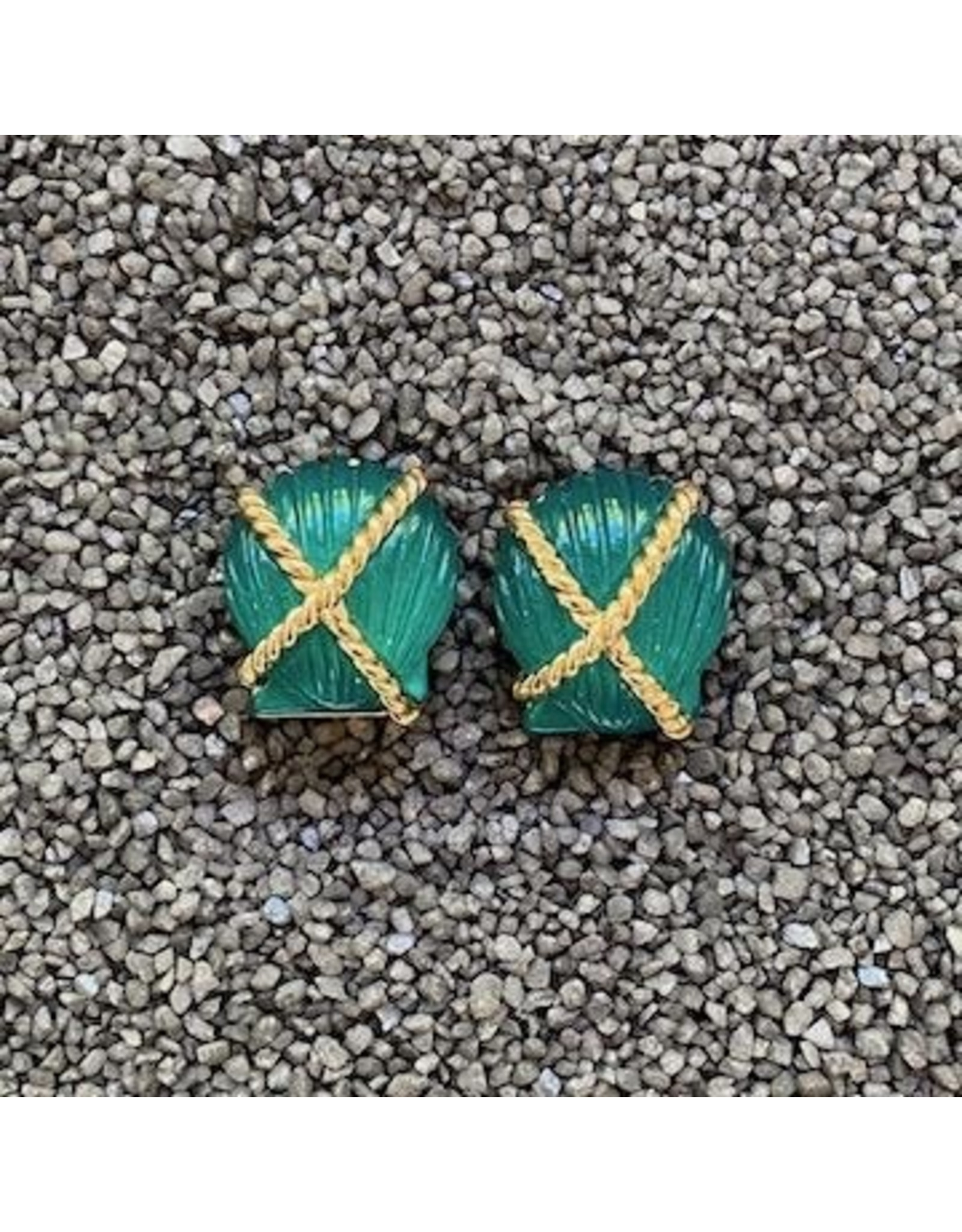VC Italy VCExclusives: Shell Criss Cross Dark Green