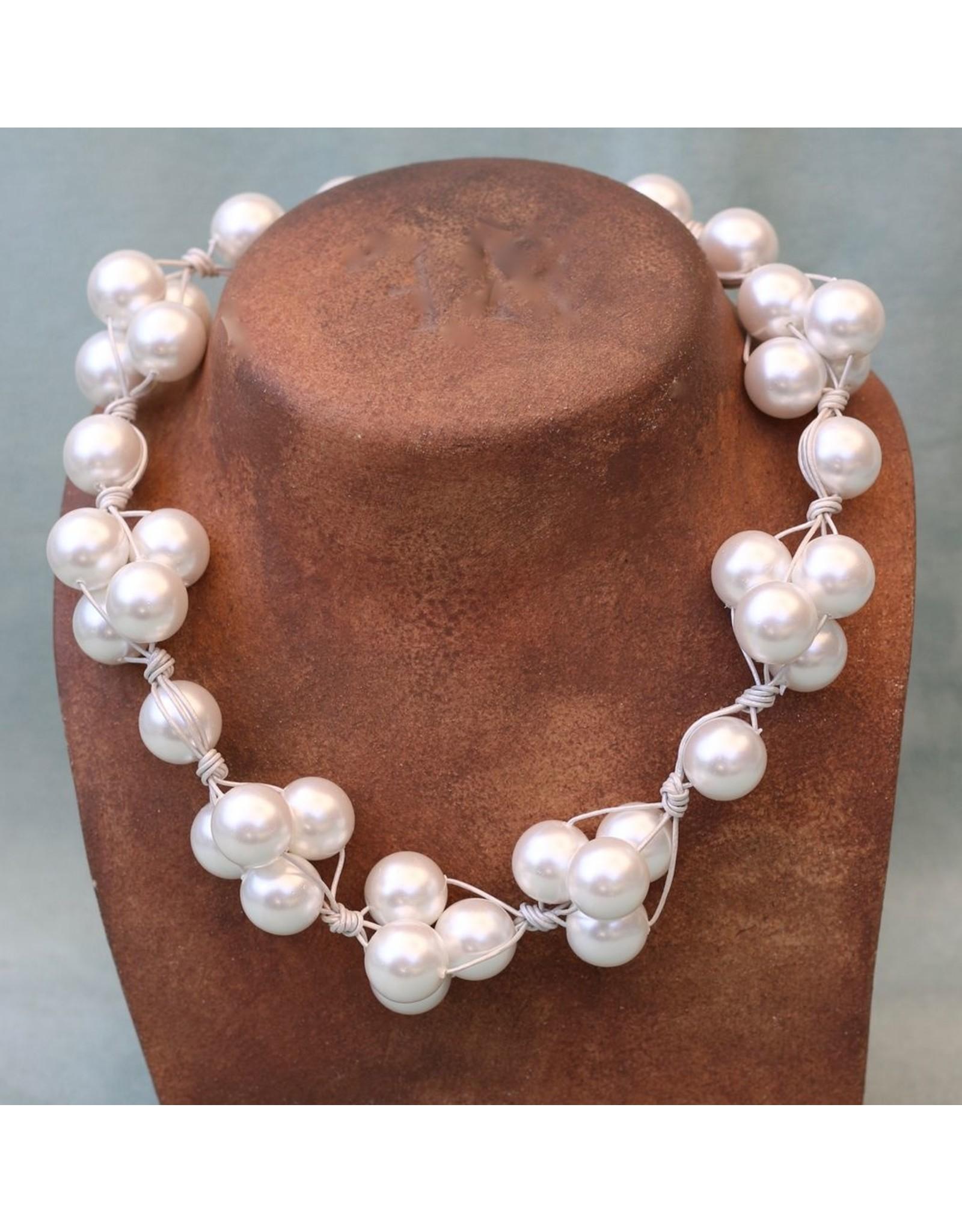 Deborah Grivas Design VCExclusives: White Pearl on White Cord