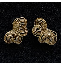 Kenneth Jay Lane KJLane: Gold Wire Bow