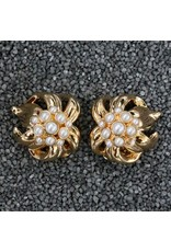VC Italy Audrey Pearl and Gold Clip Earring