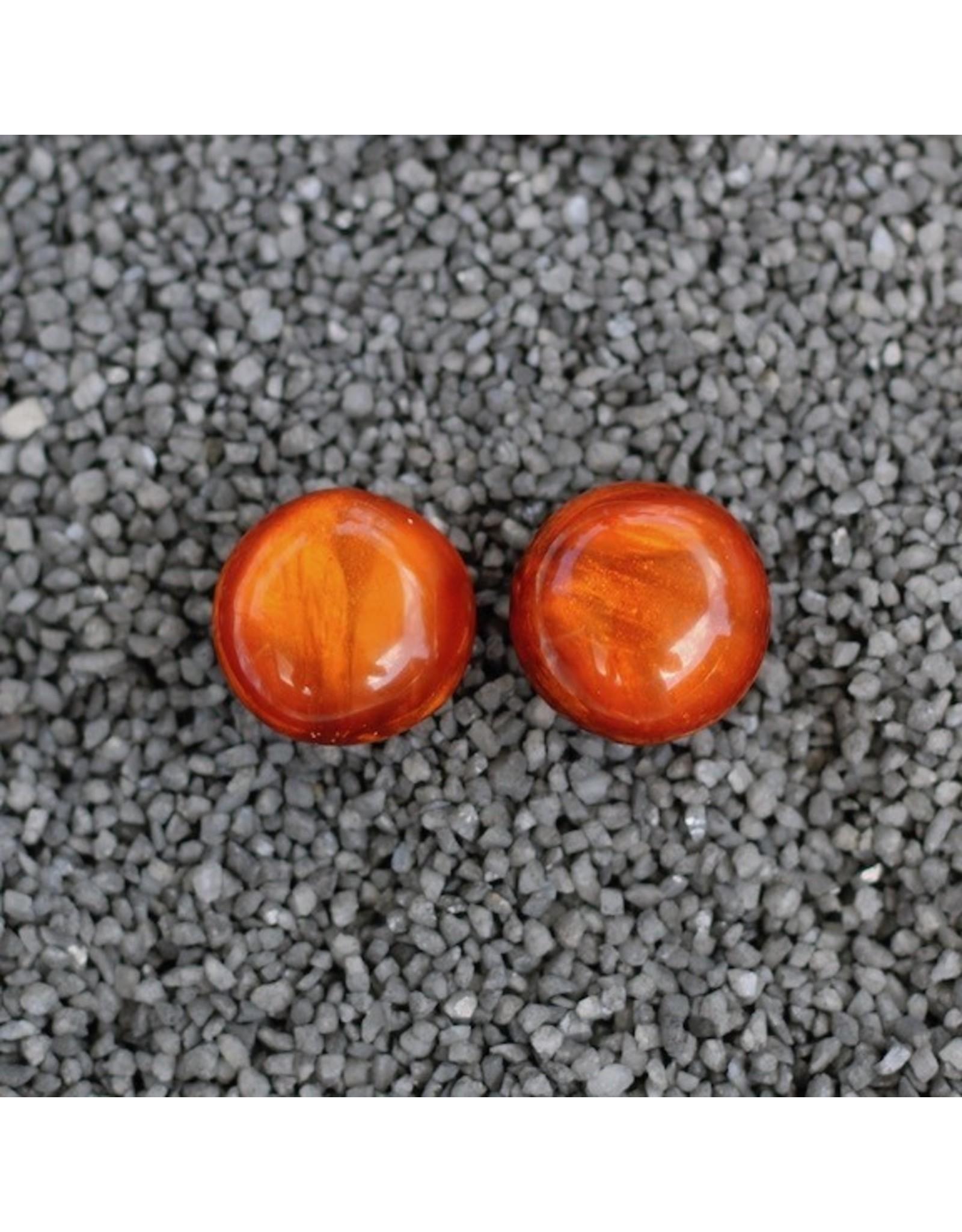 Dominique Denaive Denaive:  Agnes Spruce Rich Orange Pierced