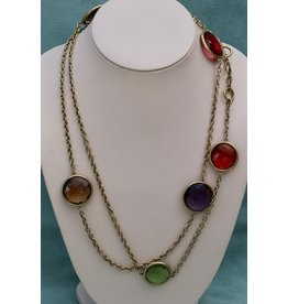 Vaubel Semi Precious Discs on Chain