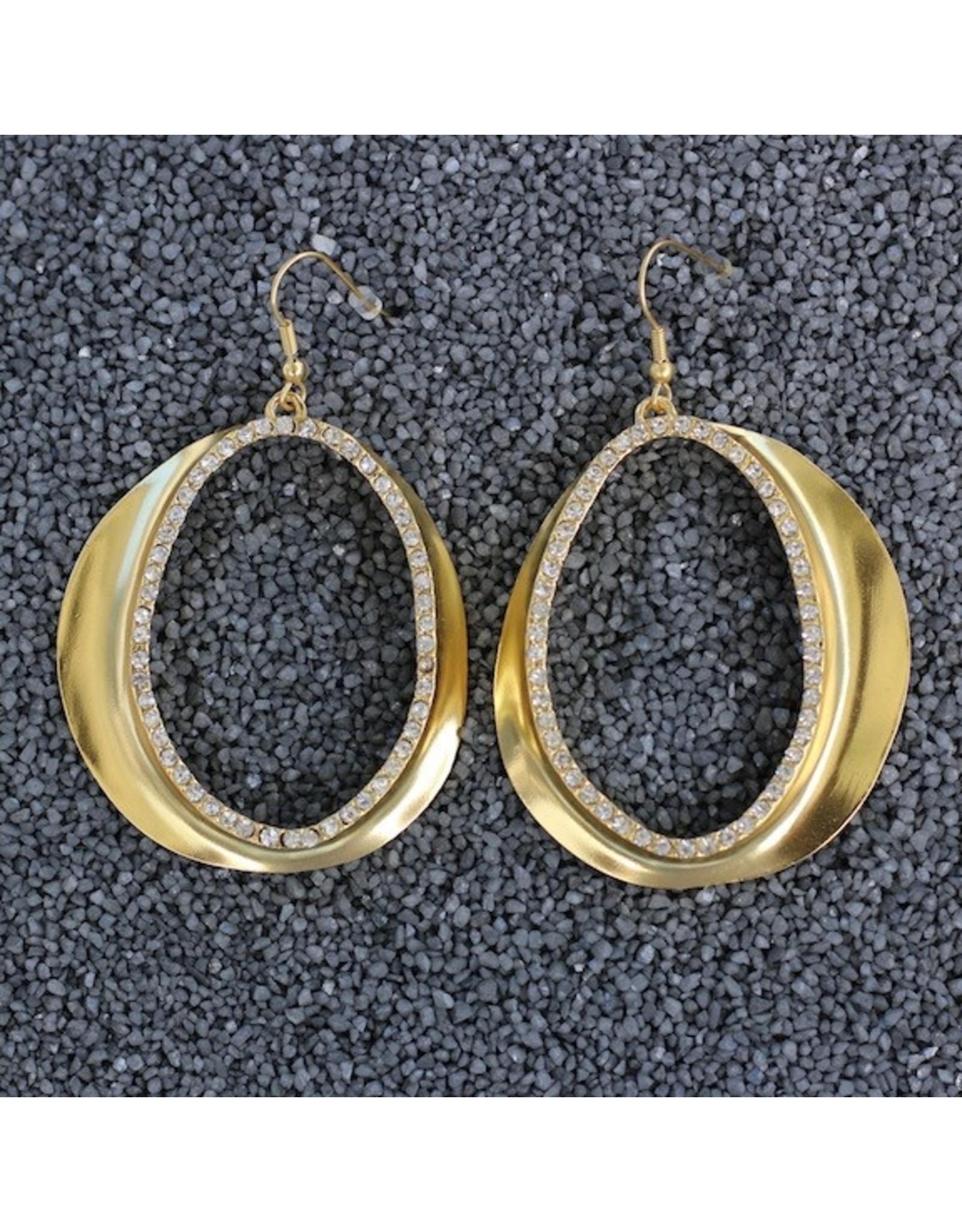 Karin Sultan KSultan: Gold Op Swirl Dangles Pierced