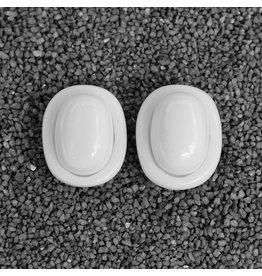Dominique Denaive White Oval Buttons