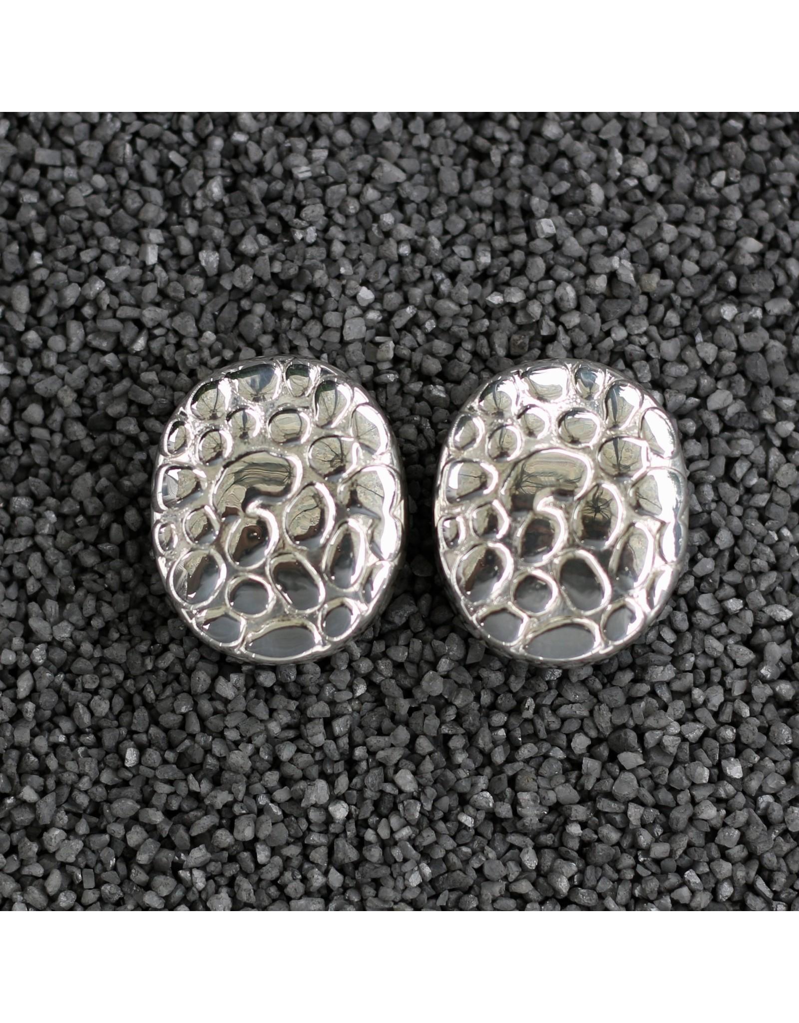 Simon Sebbag Designs Silver Oval Pebble Clip Earring