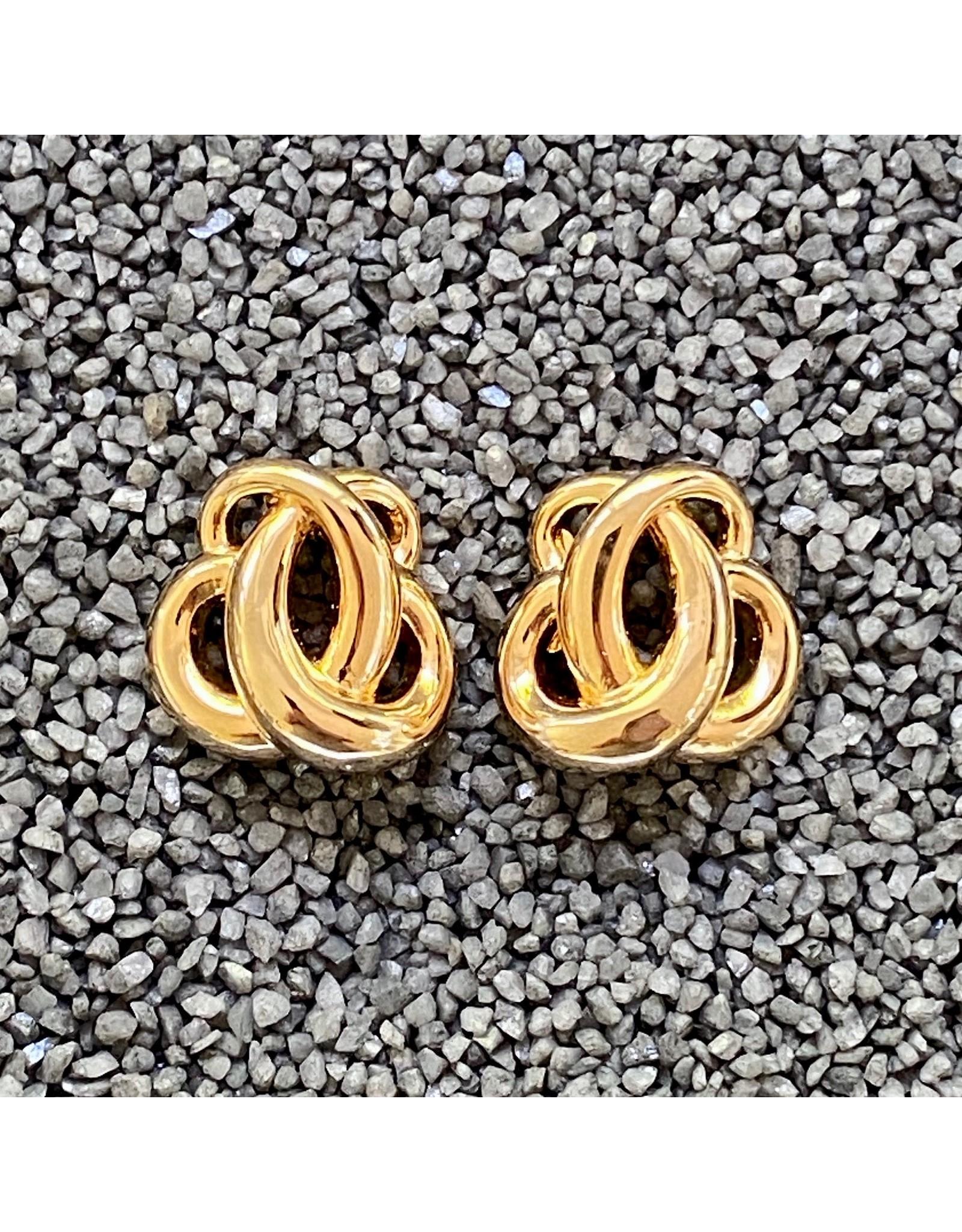 VC Italy Gold Bi-Knots Clip Earring