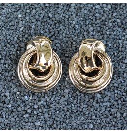 VC Italy Door Knocker Gold Clip Earring