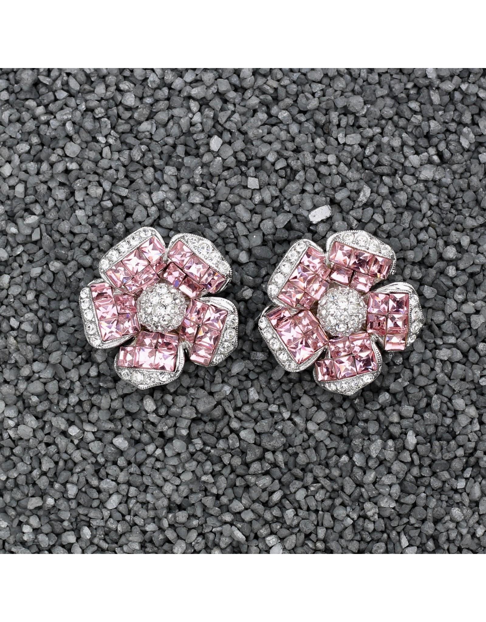 Jardin Jardin: Clear & Pink Crystal Flower Med