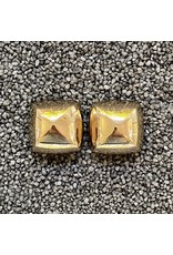 VC Italy Gold Triangle Square Clip Earring