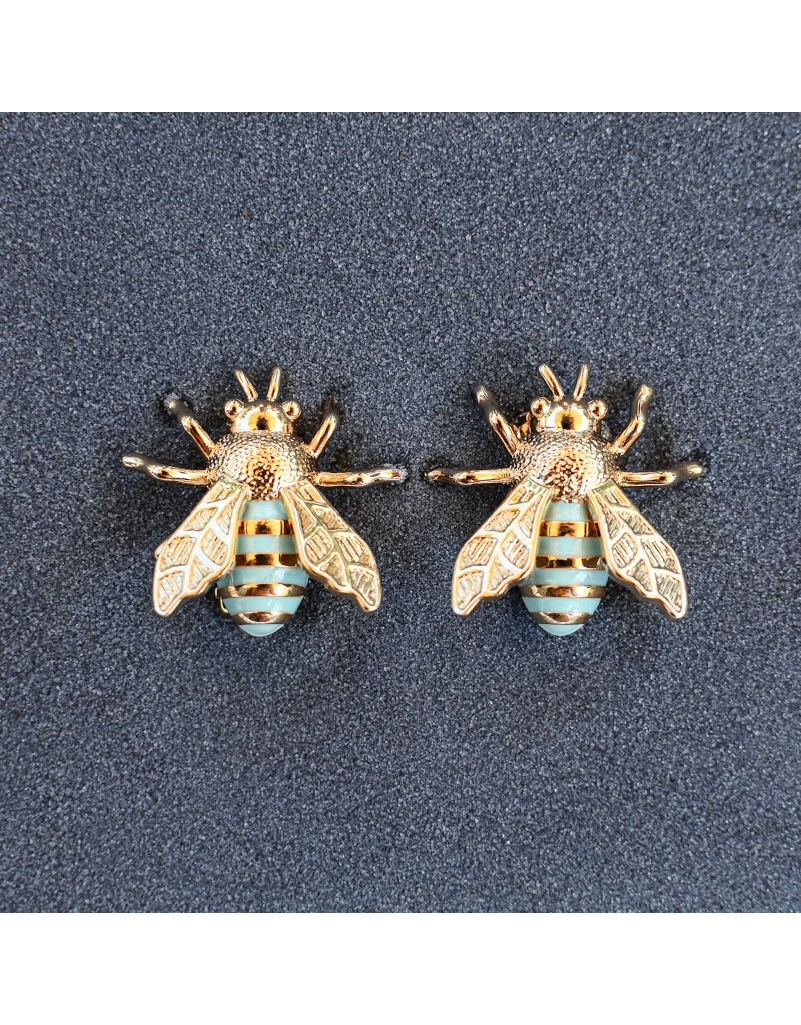 VC Italy Bee Turquoise Clip Earring