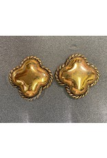 VC Italy Gold and Rope Clip Earring