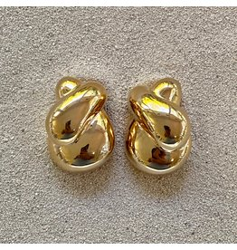 VC Italy Gold Twist Clip Earring