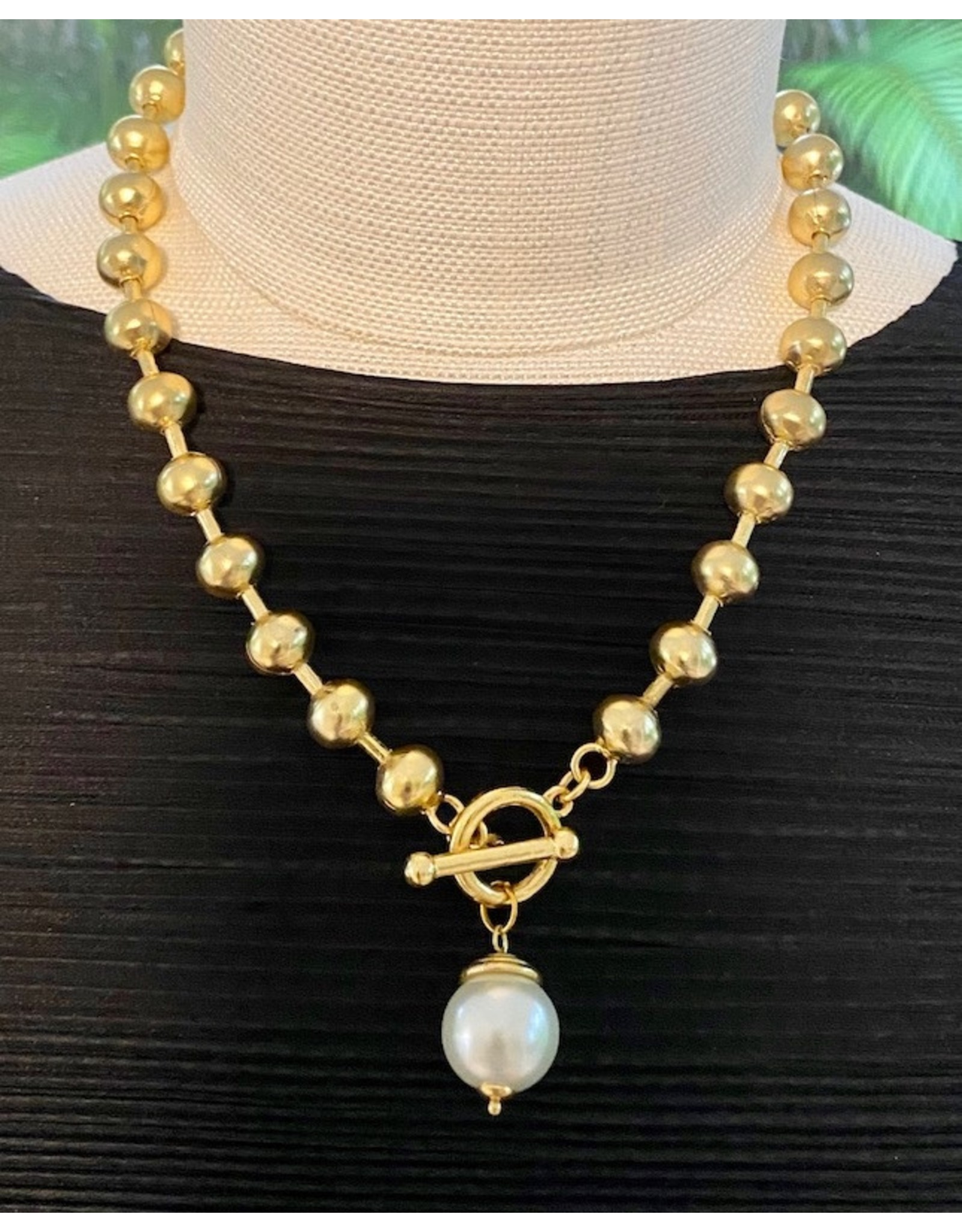 Karin Sultan Gold Pearl Necklace