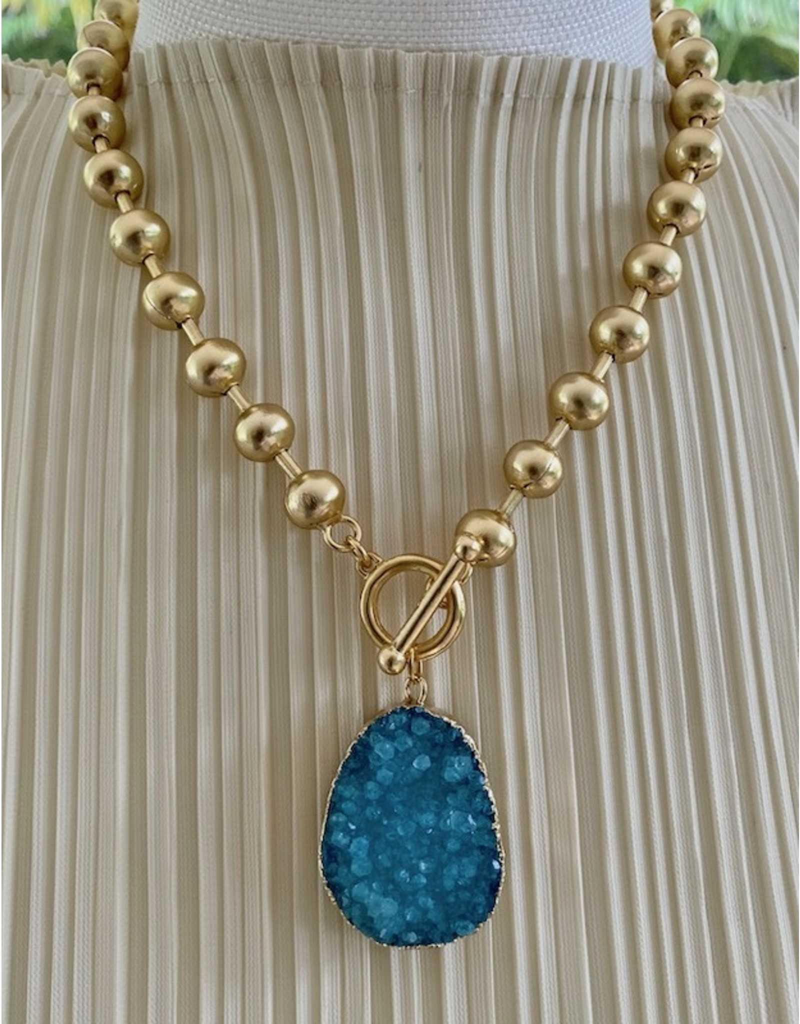 Karin Sultan Gold Turquoise Druzy