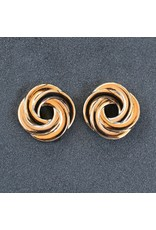 VC Italy Gold Circle Clip Earring