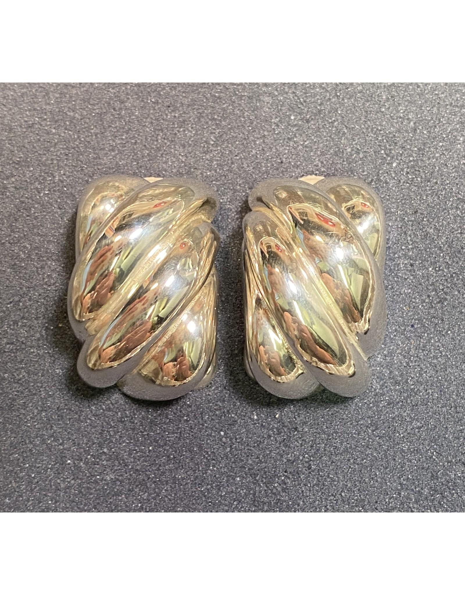 Simon Sebbag Designs Silver Rectangle Clip Earring