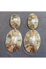 Simon Sebbag Designs Smooth Double Round Drop Silver Clip Earring