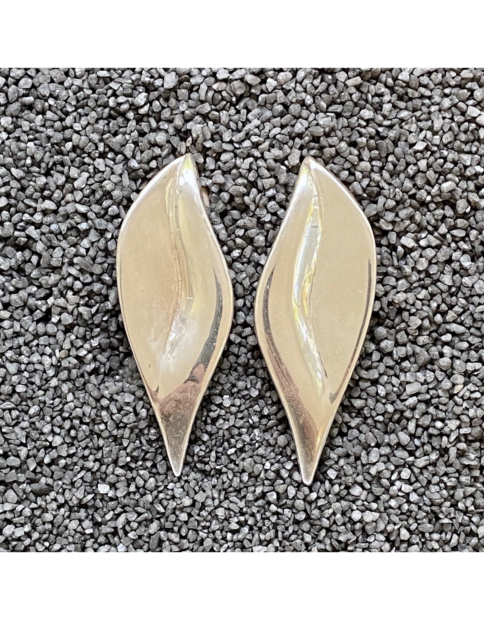 Simon Sebbag Designs Long Leaf Silver Clip Earring