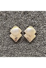 Simon Sebbag Designs Silver Double Diamonds Clip Earring