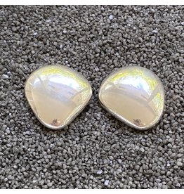 Simon Sebbag Designs Large Smooth Silver Pebble Clip Earring