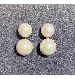 Francoise Montague Double Pearl Clip Earring