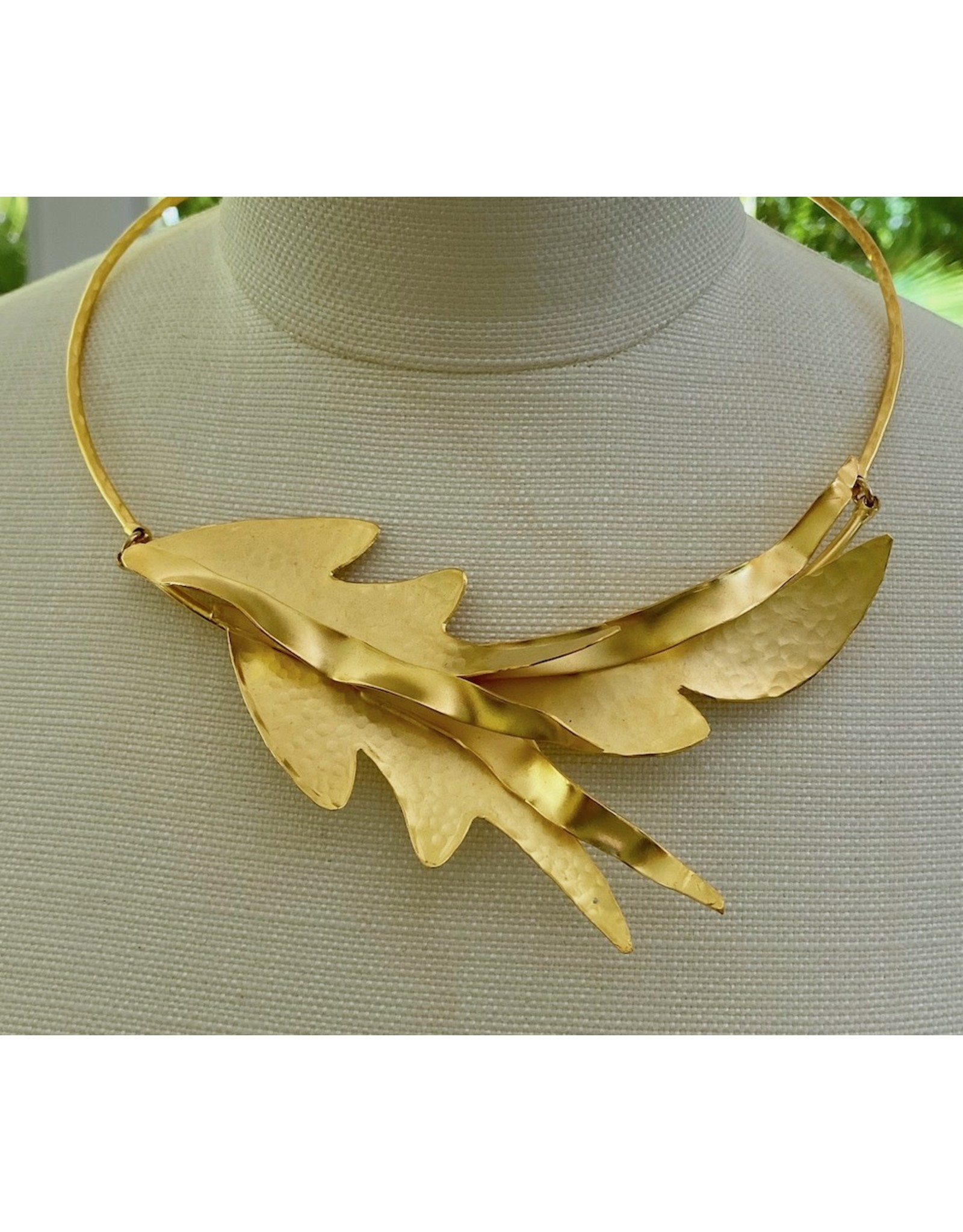 VC Exclusives Fobe Gold Leaf Necklace