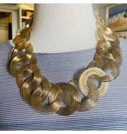 "Kenneth Jay Lane 18"" Gold Swirls Necklace"