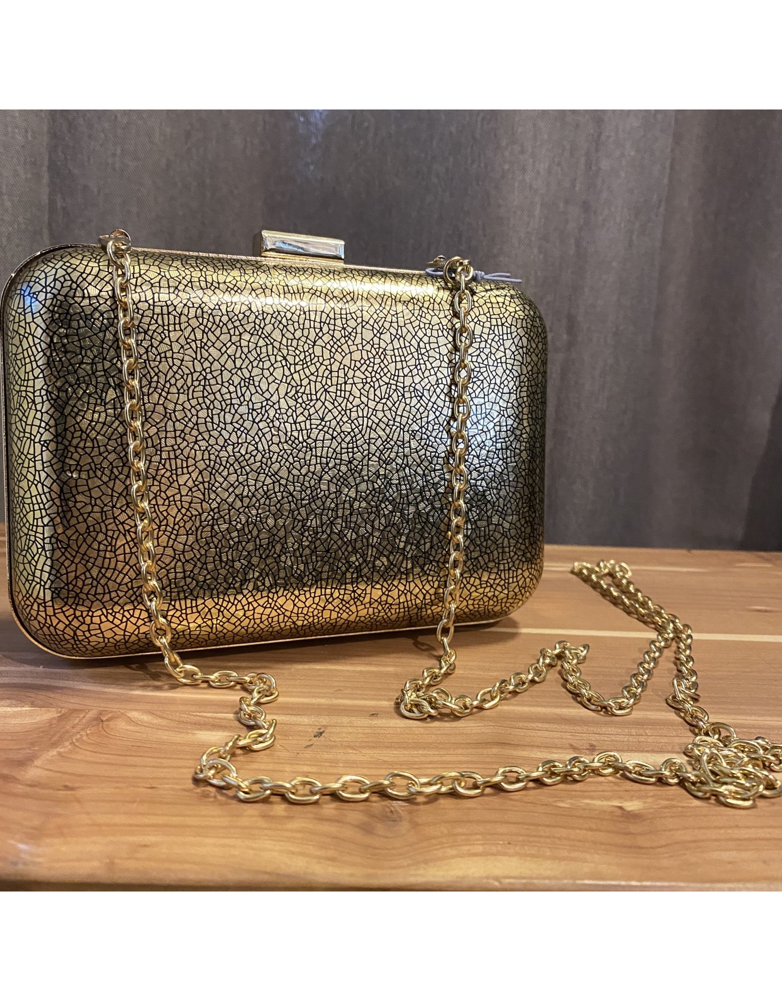 Inge Christopher Juliana Gold Clutch