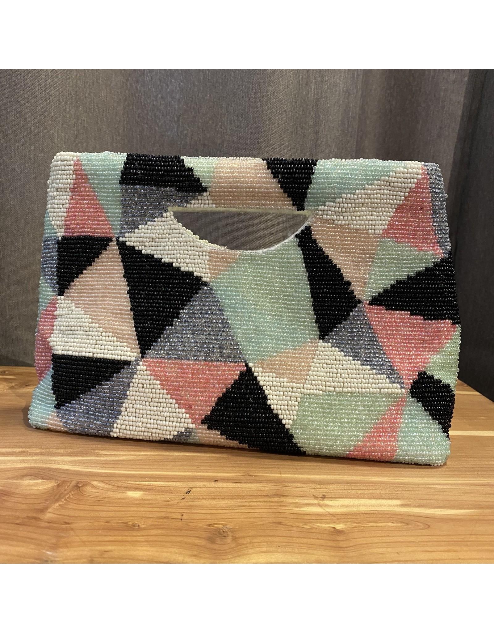 Tiana Designs Multi color Beaded Clutch