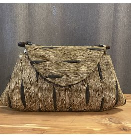 SongO songo/A5H-BN/woodhandle/hand/loomed/vetiver