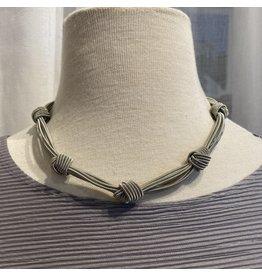 Sea Lily Knots on Silver Piano Wire Strands