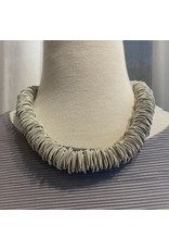 Sea Lily Grey Piano Wire Necklace