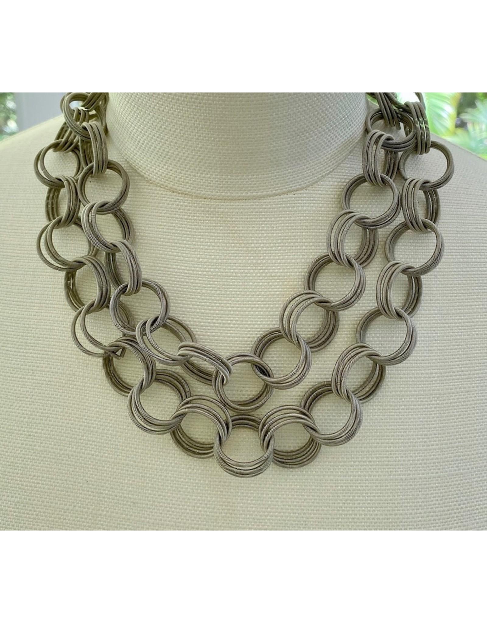 Sea Lily sea/601/silver/long/spring/neck