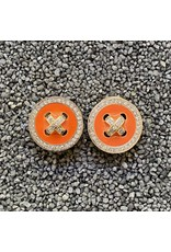 VC Italy Button Clip Earring