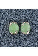 VC Italy Oval w/ Vines Clip Earrings