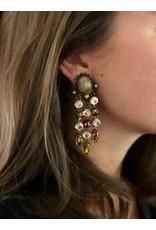 Jean Louis Blinn Copper and Beige Clip Earrings