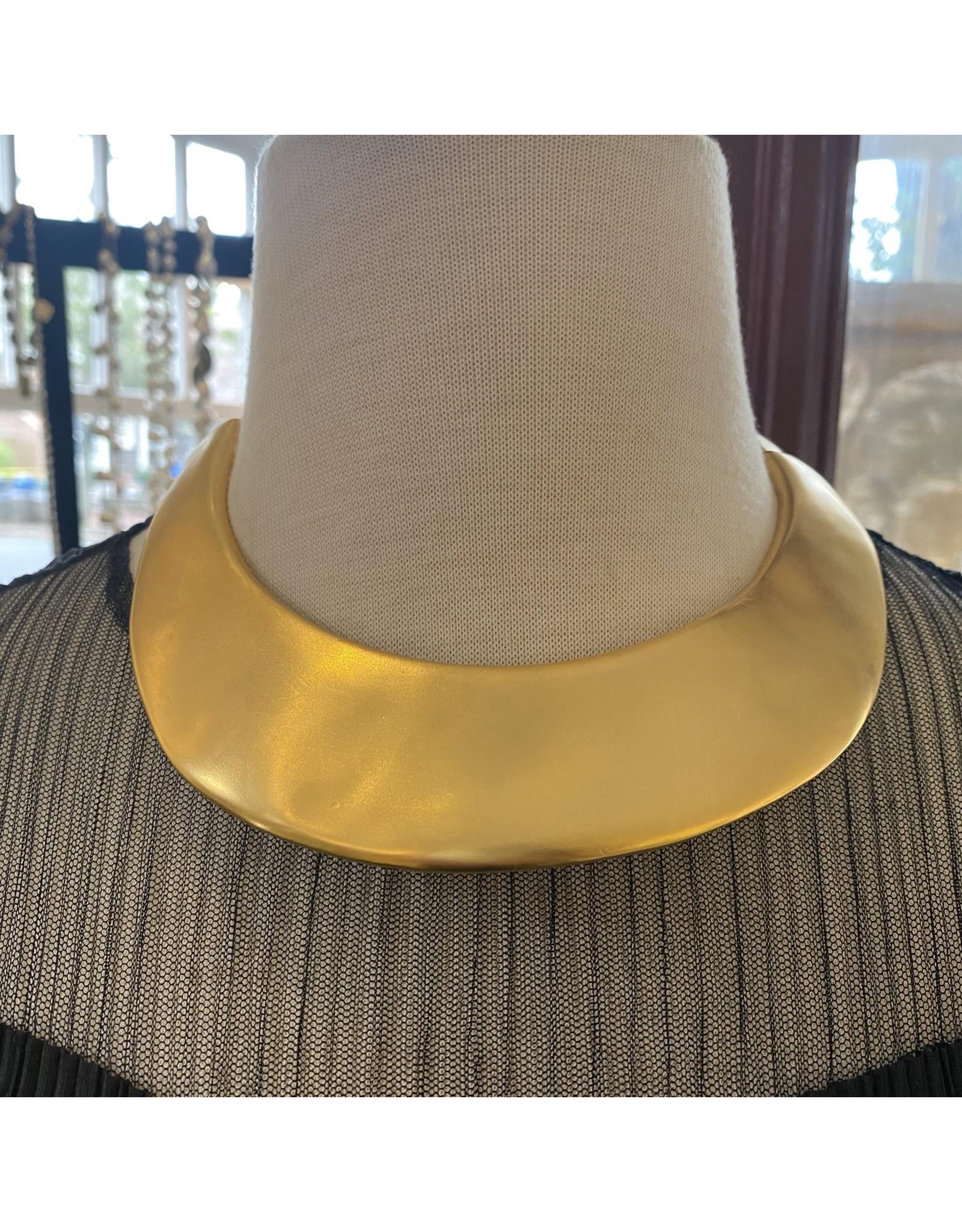 Kenneth Jay Lane Satin Gold Collar