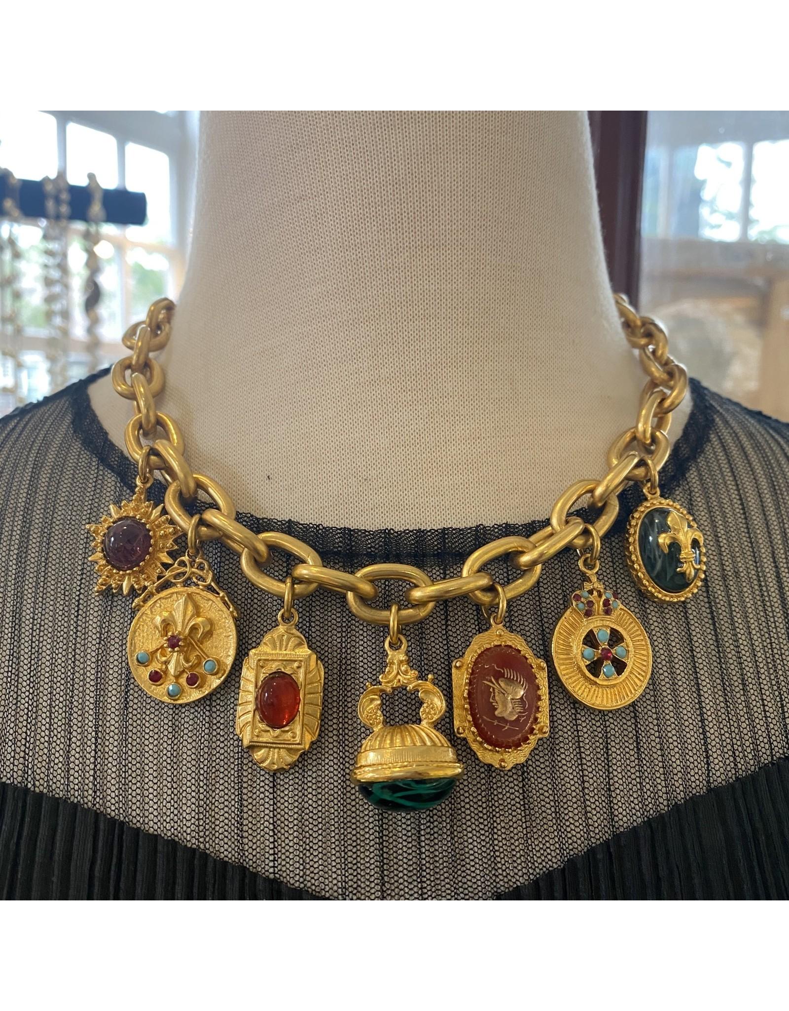 Ben-Amun ben/11713/gold/chain/wintag/pendants